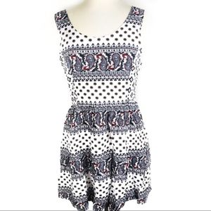 NWT Entro detailed patterned cross back dr…